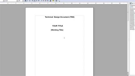 software design document adalah how to make and write a tdd technical design document