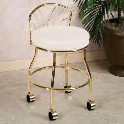 Flare back vanity chair