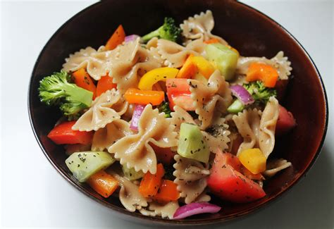 Pasta Salad Vegetarian | rainbow vegetable pasta salad live learn love eat