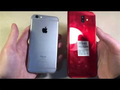 samsung galaxy j6 vs iphone 6s