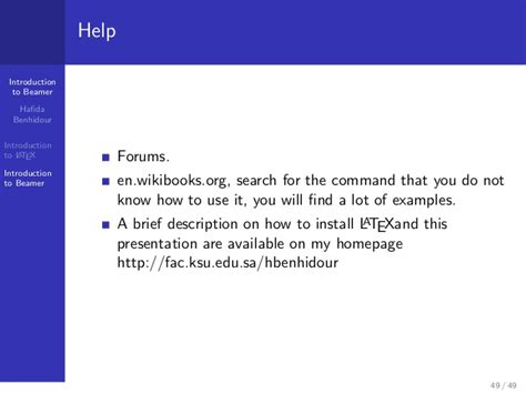 latex tutorial for presentation how to make a presentation with latex introduction to