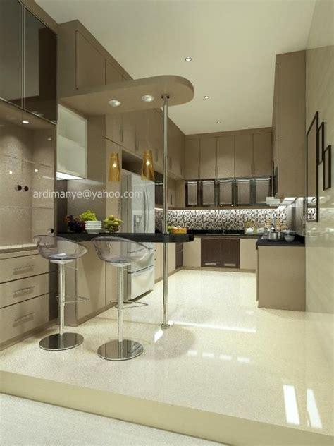 interior dapur bentuk  desain minimalis desain interior