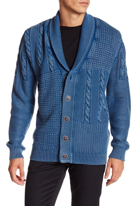 cable knit shawl weatherproof vintage shawl collar cable knit cardigan