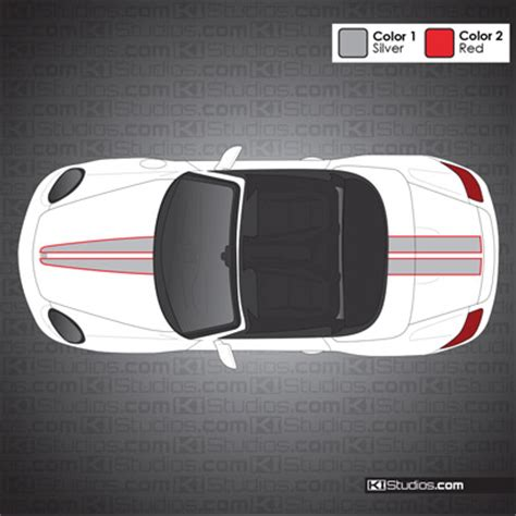 Stripe Top 008 dual the top tapered stripes for porsche boxster 986