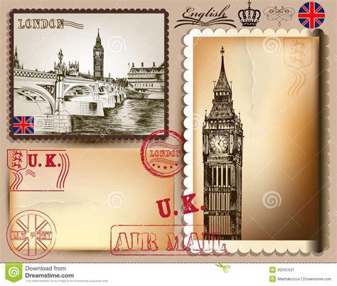 imagenes vintage londres colecci 243 n de postales del vector del vintage con londres