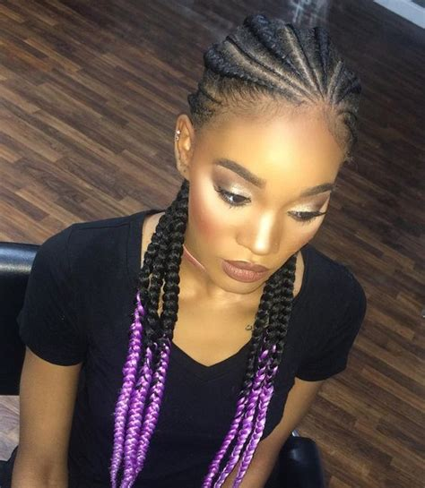 cornrows styles with color on the tips 35 absolutely beautiful feed in braid hairstyles