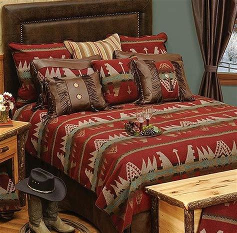 Southwestern Style Bedding Sets Yellowstone Bedding Set Melds Rustic Southwestern Styling Warm Comfort And Upscale Quality To