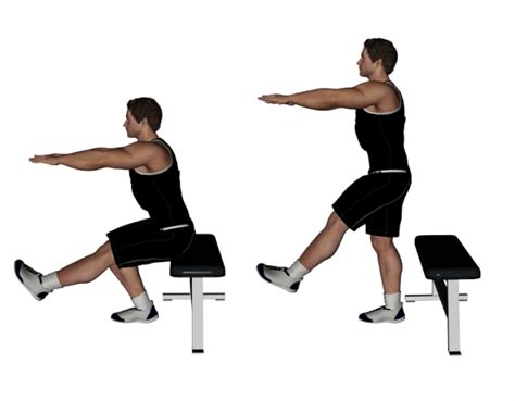 bench squat gallery single leg squat with bench