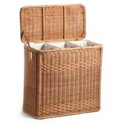 rattan laundry hamper 3 compartment wicker laundry hamper the basket lady