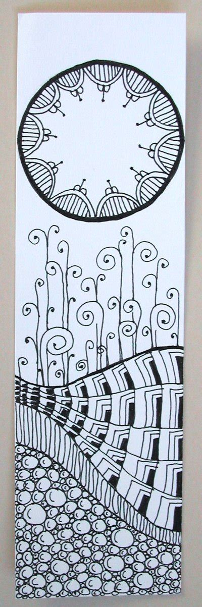 doodle how to start zentangle bookmark 1 by joanieponytail on deviantart