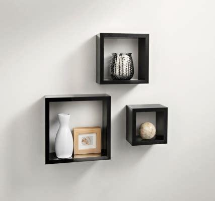 Floating Shelf Bentuk Frame 3 Pcs norsk hi gloss cube shelves 3pc black shelving b m