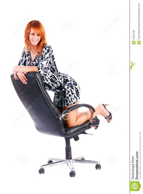 girls armchair charming smile girl on armchair stock photo image 12241130