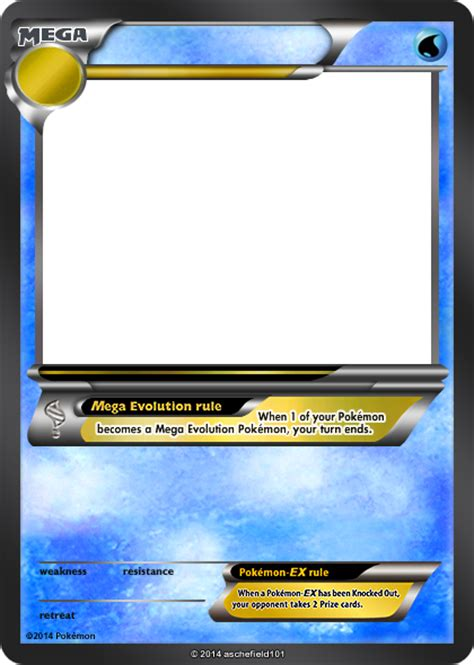 trading card template without energy type xy blanks mega water by aschefield101 on deviantart