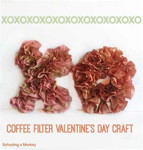 A Last Bit Of Valentines by Diy Coffee Filter Xo Decoration Craft