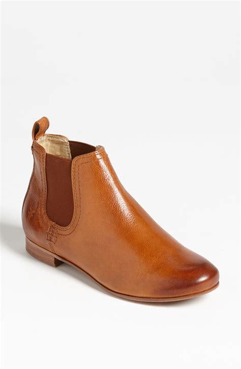 frye chelsea boot frye jillian chelsea boot in brown whiskey lyst