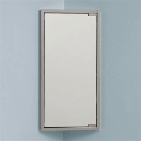Bathroom Mirrors With Medicine Cabinet Kugler Stainless Steel Corner Medicine Cabinet Medicine Cabinets Bathroom