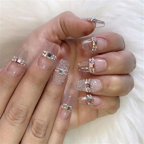 Clear Nail by 27 Lovely And Extravagant Clear Nail Designs