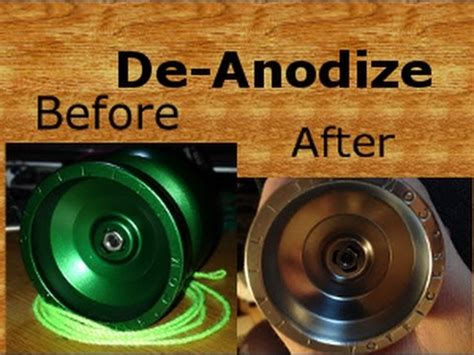 how to de anodize aluminum yoyo