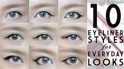 tutorial for top eyeliner 10 everyday eyeliner looks tutorial with 中文字幕 youtube
