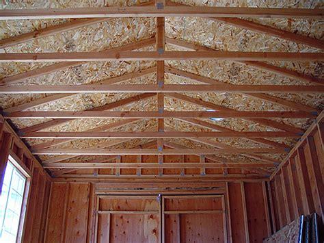 tsle complete storage shed truss design