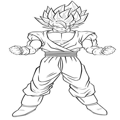 Coloriage A Imprimer Dragon Ball Z Super Sayen Pour Coloriage Sangoku Petit L