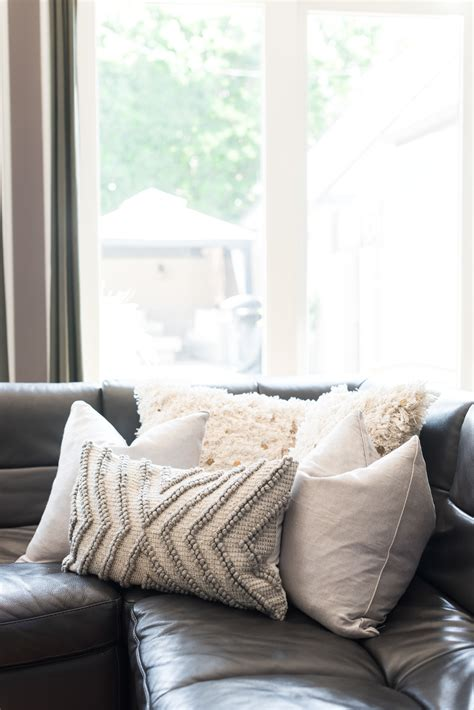 toss pillows for leather sofa hello home decor update hello gorgeous by angela lanter