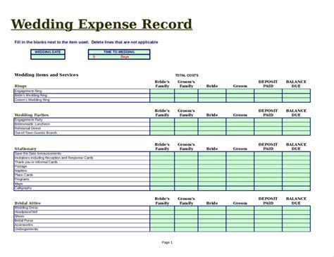 Wedding Checklist For by Wedding Planning Checklist Excel Weddings234