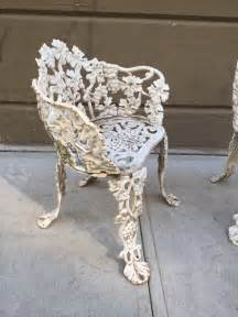 pair of vintage cast iron garden chairs for sale at 1stdibs
