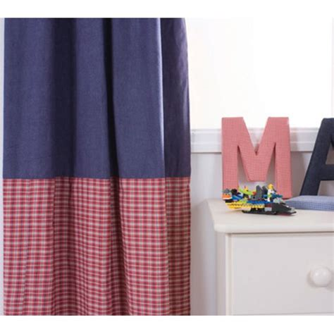 red pleated curtains babyface mckenzie blue and red 100 cotton pleated