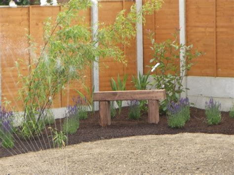 Simple Small Garden Ideas Small Garden Corner Bed And Seat Simple Donegan Landscaping Ltd Dublin