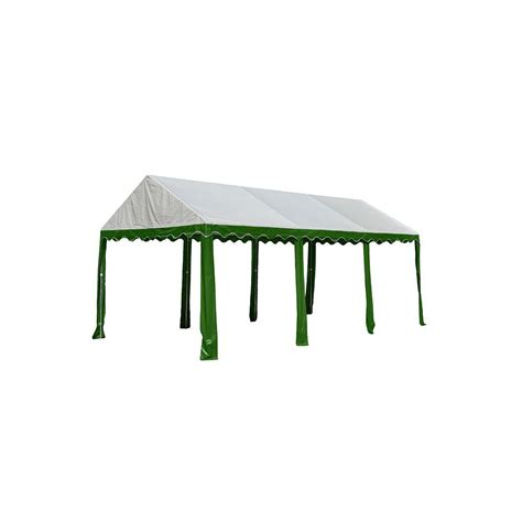 shelterlogic 10 ft x 20 ft green white tent 25889