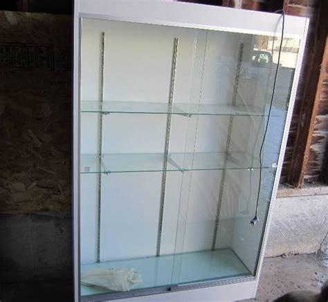 glass lighted door glass sliding door lighted display