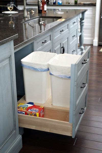 kitchen trash cabinet pull out pull out trash cabinet kitchen ideas pinterest