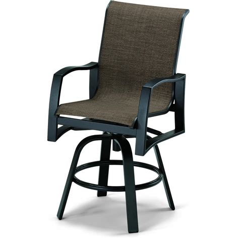 Patio Bar Height Chairs Telescope Casual Momentum Sling Patio Counter Height Swivel Bar Arm Chair Shopperschoice