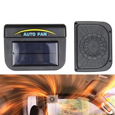 high powered window fan high quality black solar sun power car auto fan air vent
