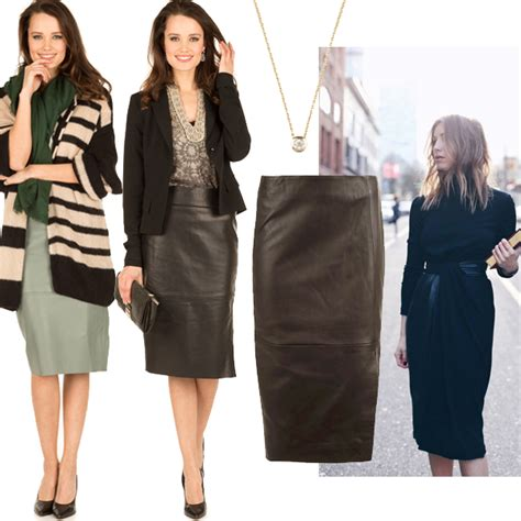 how to wear leather skirts for different occasions