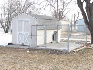 storage shed and pen
