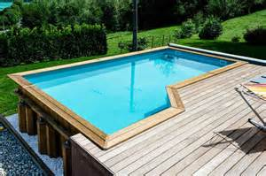 Piscine Semi Enterree Bois