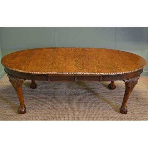 Quality Dining Table Quality Oak Extending Wind Out Edwardian Dining Table Antiques World