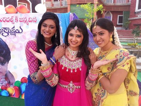 zee telugu heroine family photos serial actress pallavi photos lovely telugu