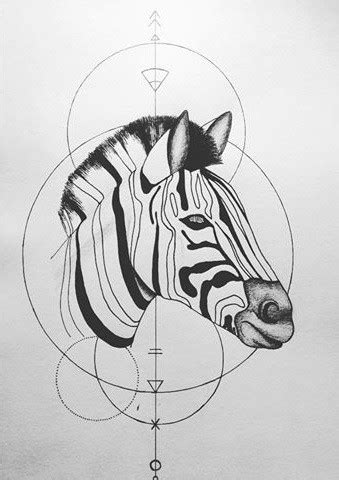 geometric zebra tattoo sweet uncolored zebra head and geometric drawings tattoo