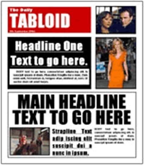 tabloid article template dimery newspaper templates