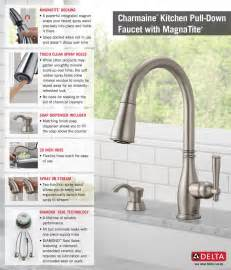attractive Delta Kitchen Faucets Home Depot #1: 19962-SSSD-DST_Pull-DownwithSoapDispenserKitchen_Inline_Infographic.jpg
