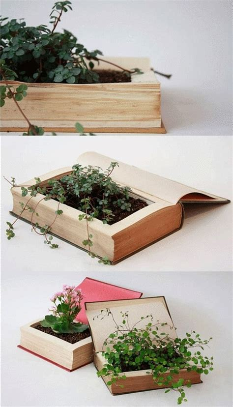 How To Make A Book Planter by 10 More Inspiring Ideas For Recycled And Diy Planters