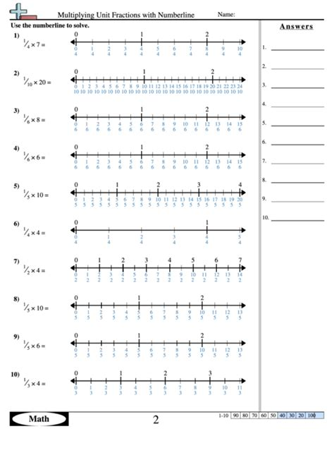 Multiplying Fractions Worksheet Answer Key