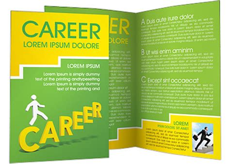 career brochure template successful career brochure template design id 0000000613