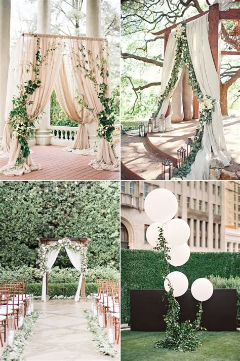 romantic summer wedding altar ideas praise wedding