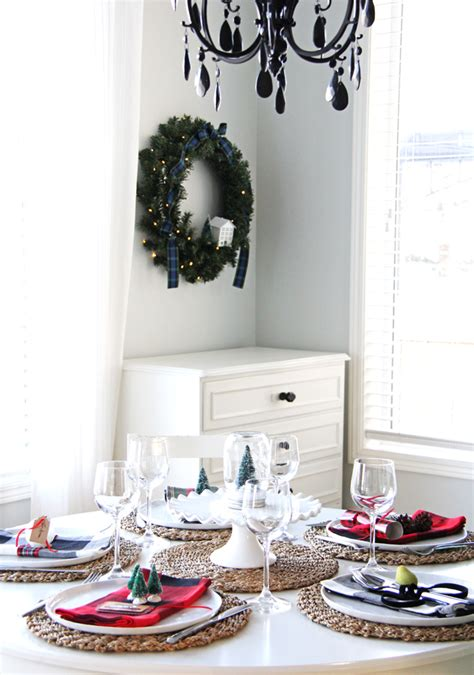 christmas place setting ideas a pretty life in the suburbs