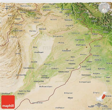 pakistan map satellite satellite 3d map of punjab