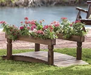 garden bridge with planters i think it would look better